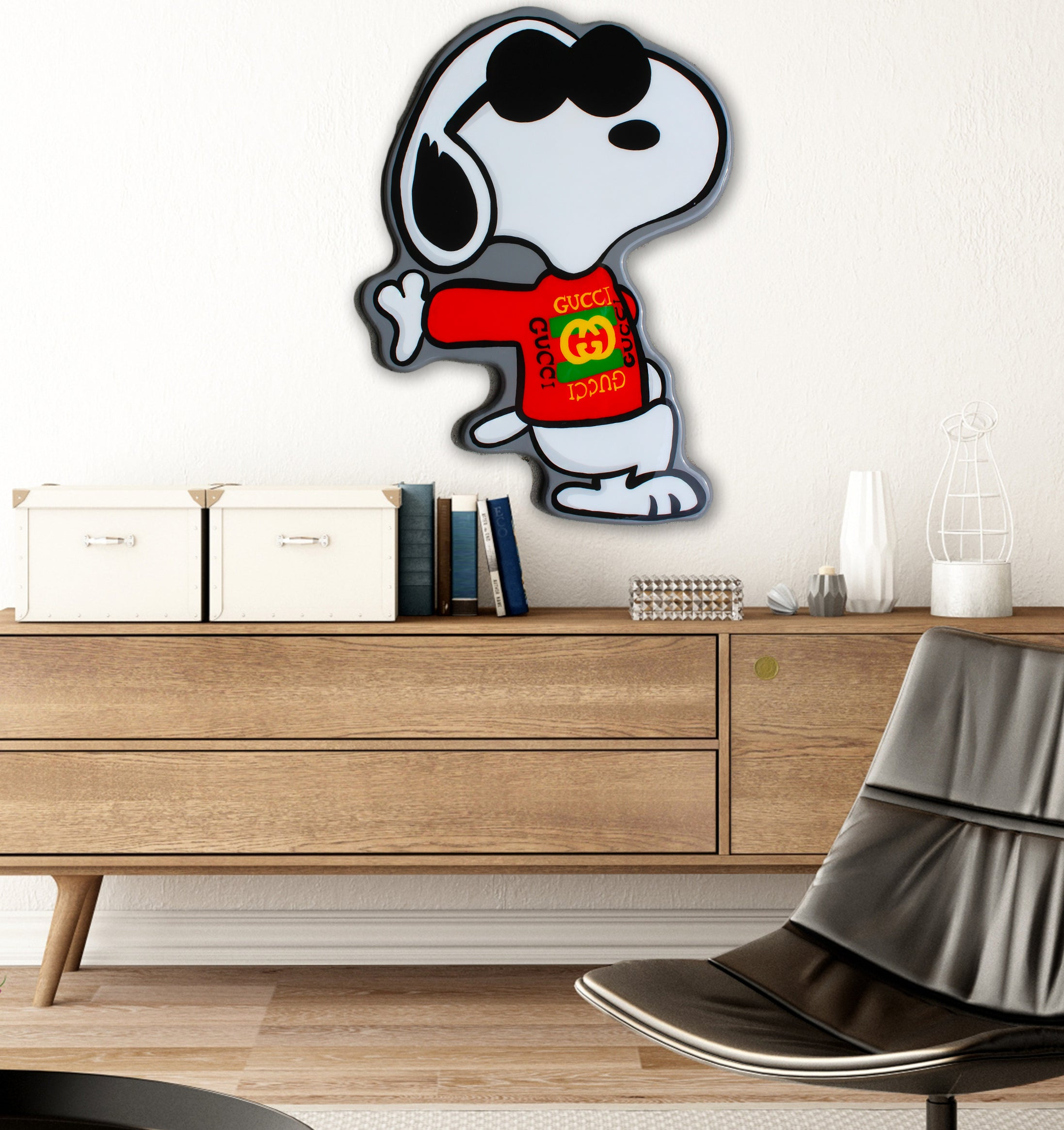 Gucci Snoopy By Idiot Box Art
