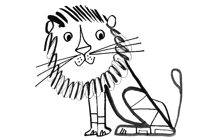 tim hopgood the lion colouring sheet