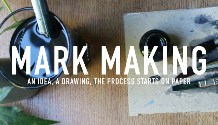 mark making an idea, a drawing, the process starts on paper