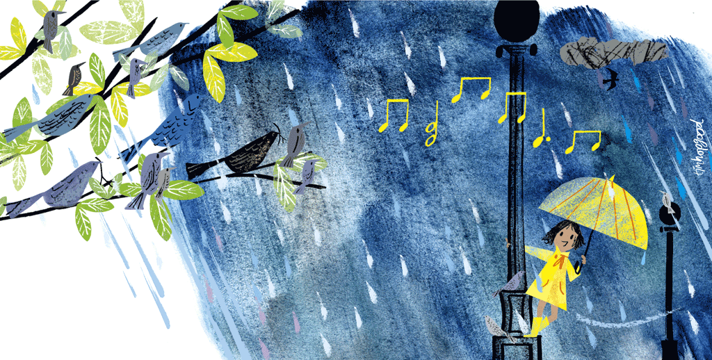 singing in the rain print