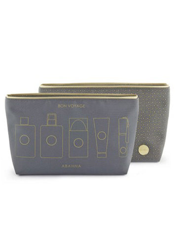 Abahna Wash Bag - Grey - Blissimi Beauty LLP