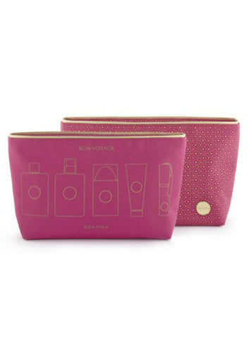 Abahna Wash Bag - Pink - Blissimi Beauty LLP