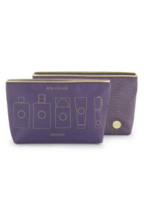 Abahna Wash Bag - Purple - Blissimi Beauty LLP