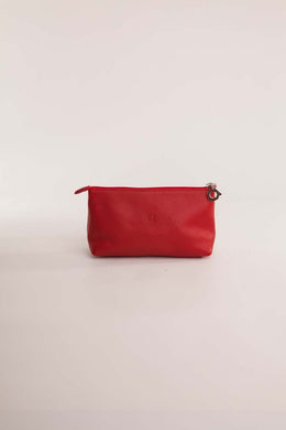 Alison Van Der Lande Make Up Bag - Red - Blissimi Beauty LLP