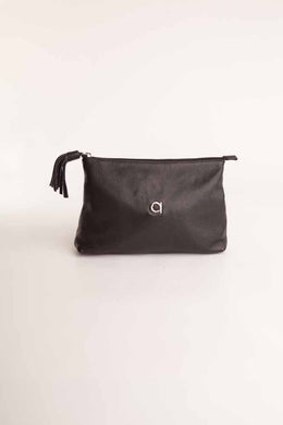 Alison Van Der Lande Tassle Make Up Bag / Clutch - Black - Blissimi Beauty LLP