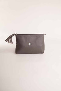 Alison Van Der Lande Tassle Make Up Bag / Clutch - Dark Grey - Blissimi Beauty LLP