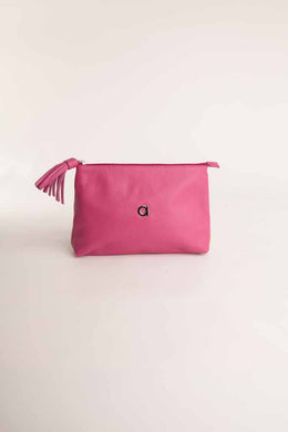 Alison Van Der Lande Tassle Make Up Bag / Clutch - Fuchsia - Blissimi Beauty LLP
