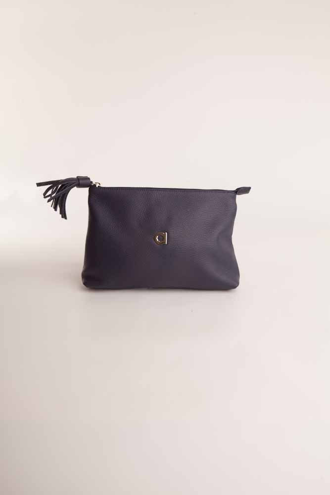 Alison Van Der Lande Tassle Make Up Bag / Clutch - Navy - Blissimi Beauty LLP