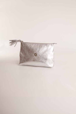 Alison Van Der Lande Tassle Make Up Bag / Clutch - Silver - Blissimi Beauty LLP