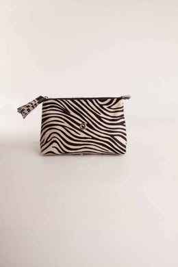 Alison Van Der Lande Tassle Make Up Bag / Clutch - Zebra - Blissimi Beauty LLP