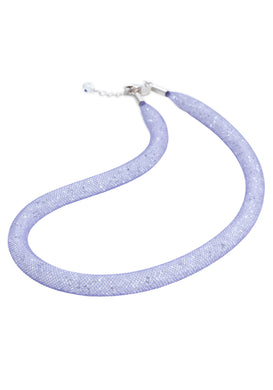 by niya London Flashbulb Fireflies Necklace with Sterling Silver Clasp - Lilac & Clear - Blissimi Beauty LLP