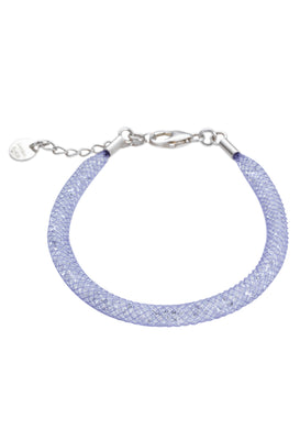 by niya London Glitzerland Skinny Bracelet with Sterling Silver Clasp - Lilac & Clear - Blissimi Beauty LLP