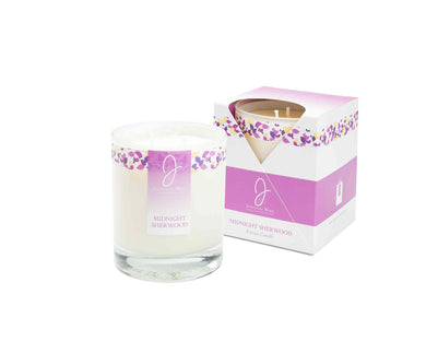 J by JWL Collection - Midnight Sherwood Candle 240g - Blissimi Beauty LLP