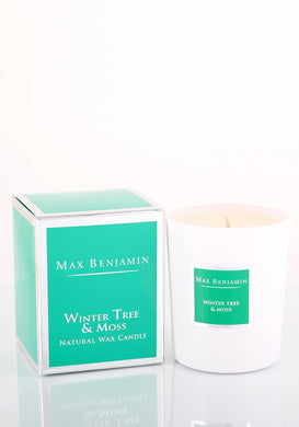 Max Benjamin Scented Glass Candle in Gift Box - Winter Tree and Moss 190g - Blissimi Beauty LLP