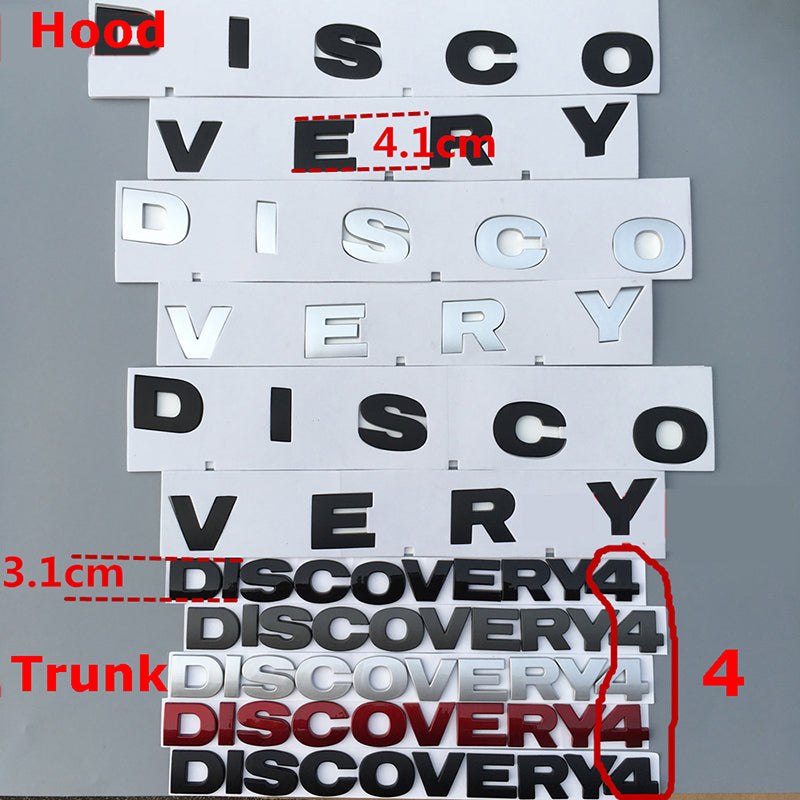 DISCOVERY Letter Badge