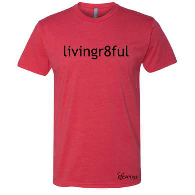 Livingr8ful Red/Black Lettering T-Shirt