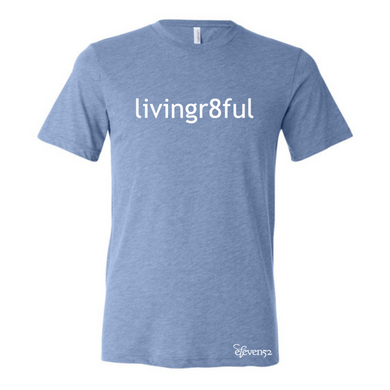 Livingr8ful Heather Blue T-Shirt