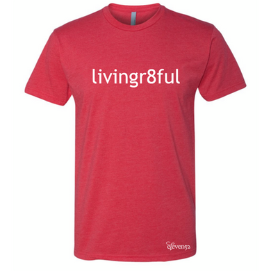 Livingr8ful Red/White Lettering T-Shirt