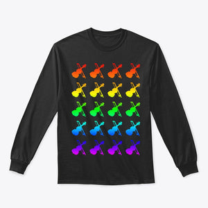 Violin Pride Long Sleeve T-Shirt: The Shirtless Violinist