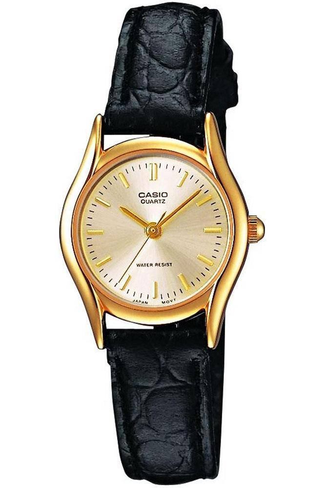 Casio Ladies's Analogue Quartz Watch with Leather Strap  LTP-1154PQ-7A - RIBI Malta