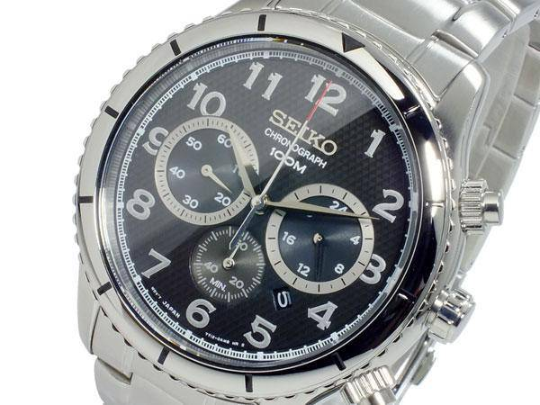 Seiko SRW037P1  Men's Chronograph with stainless Steel Case - Watch- RIBI Malta