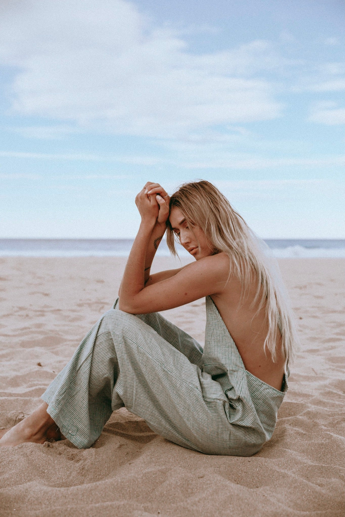 The Linen Ventura Overalls in Mint