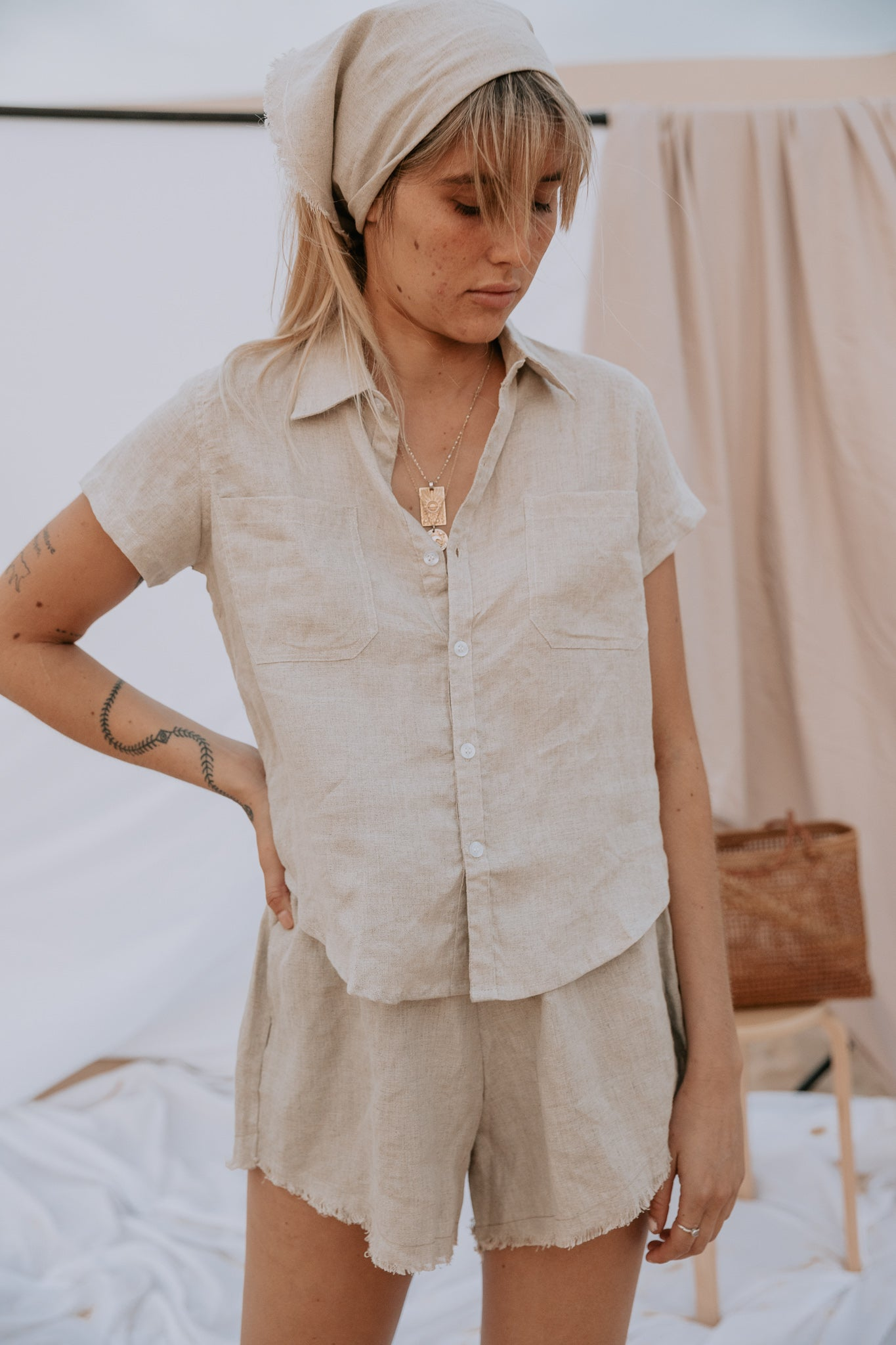 The Bodhi Blouse in Natural
