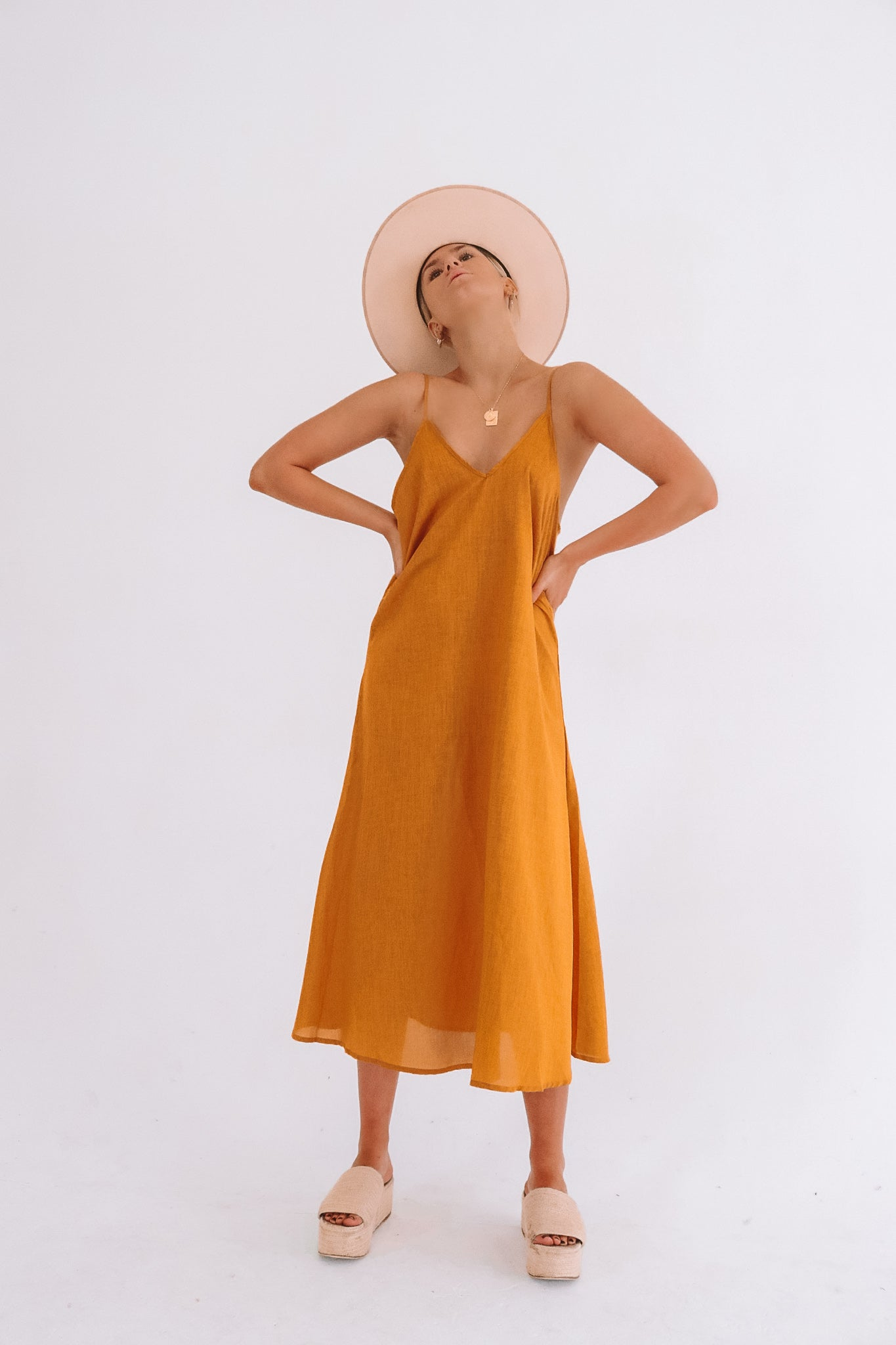 The Lola Midi Dress in Amber