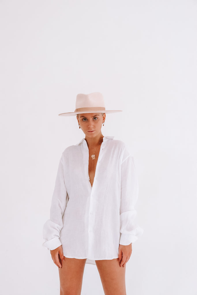 Unisex 100% Linen Button Down Shirt