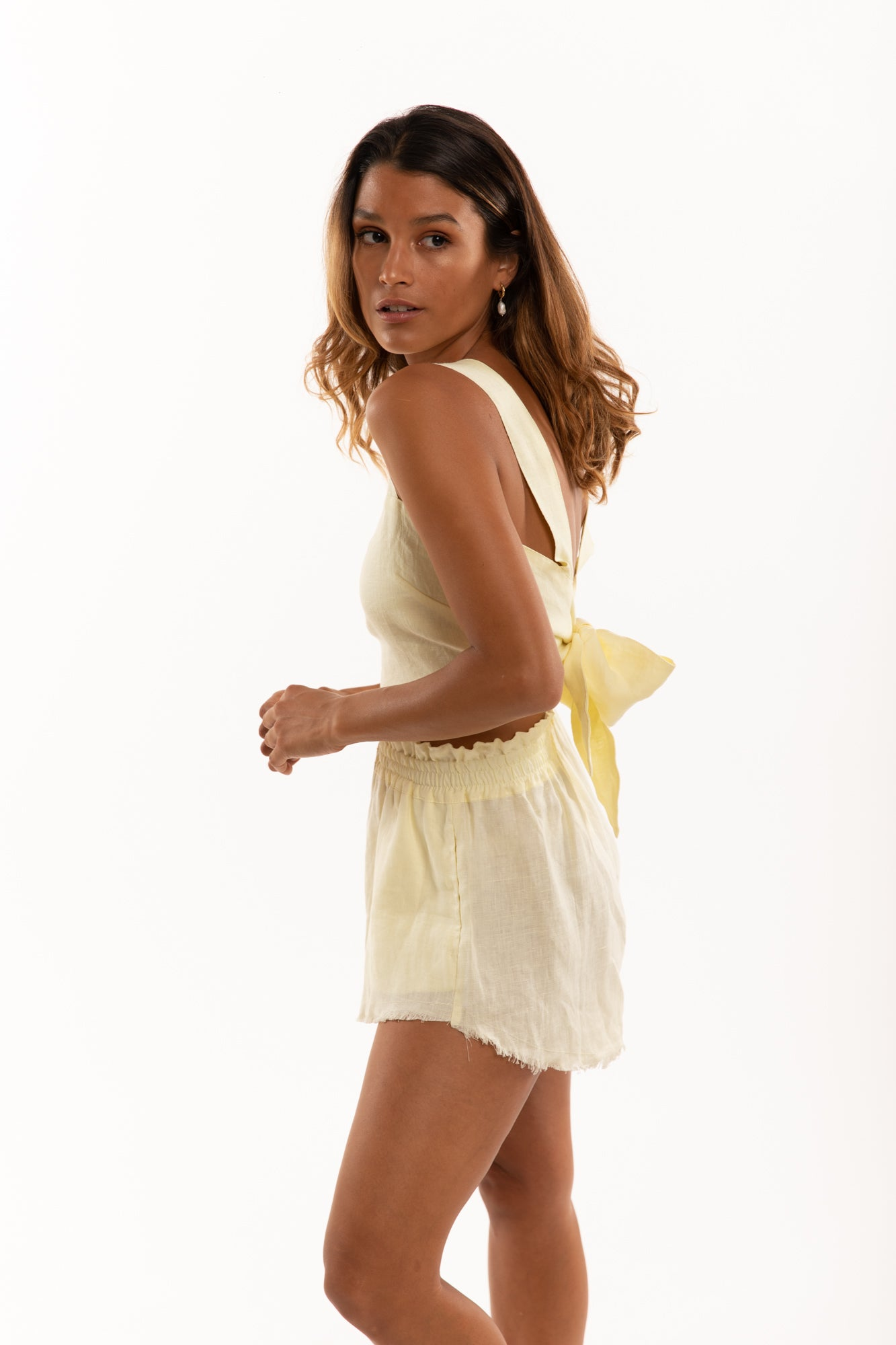 The Capri Top in Lemon
