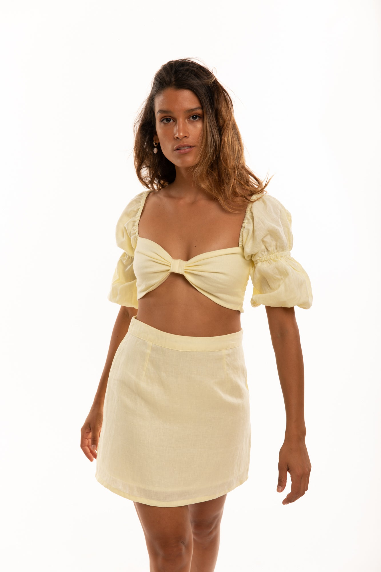 The Amalfi Skirt in Lemon