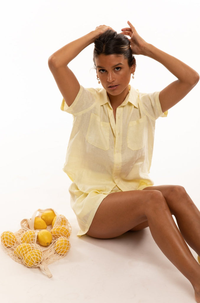 The Bodhi Blouse in Lemon