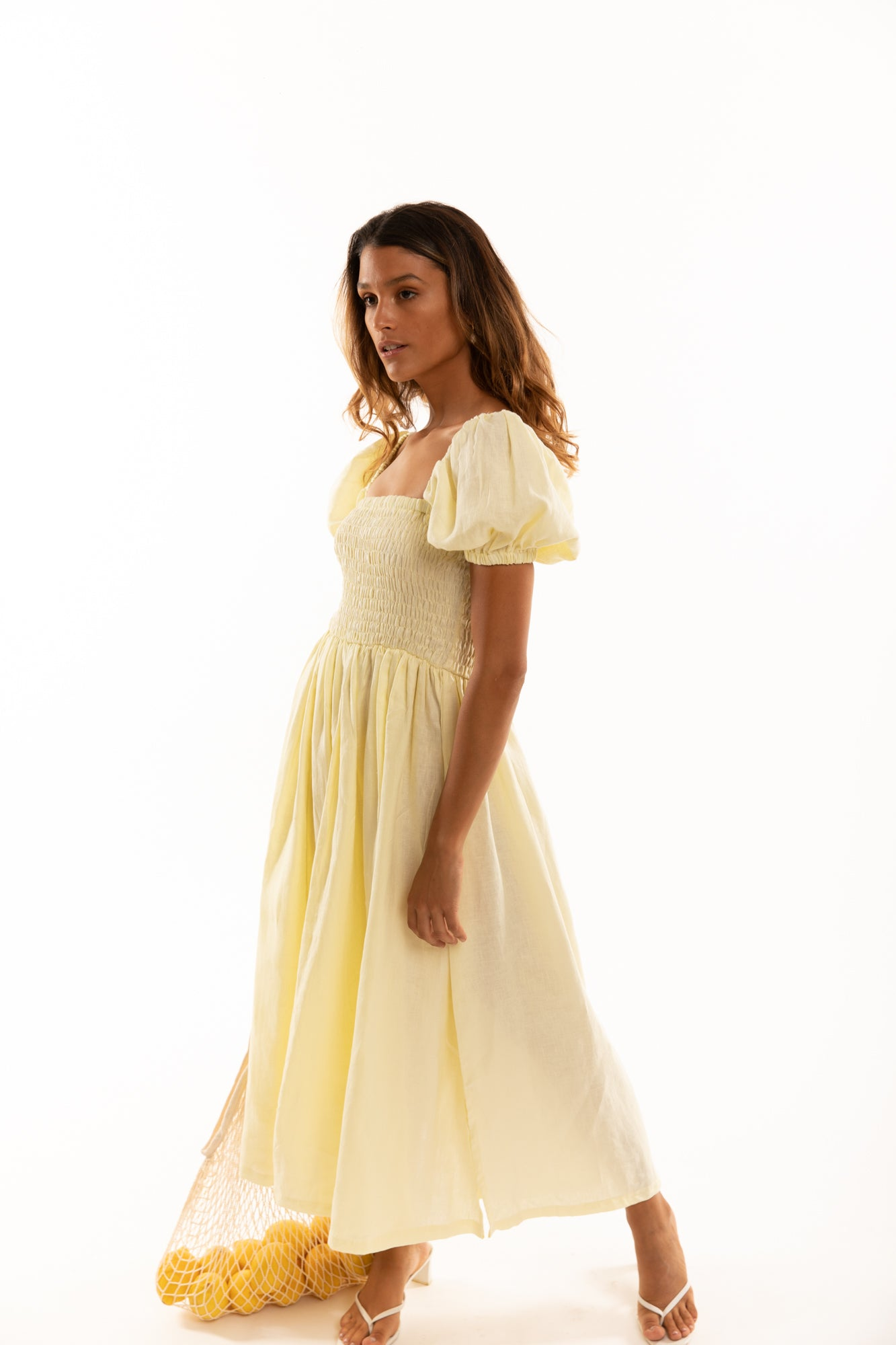 The Laguna Dress in Lemon