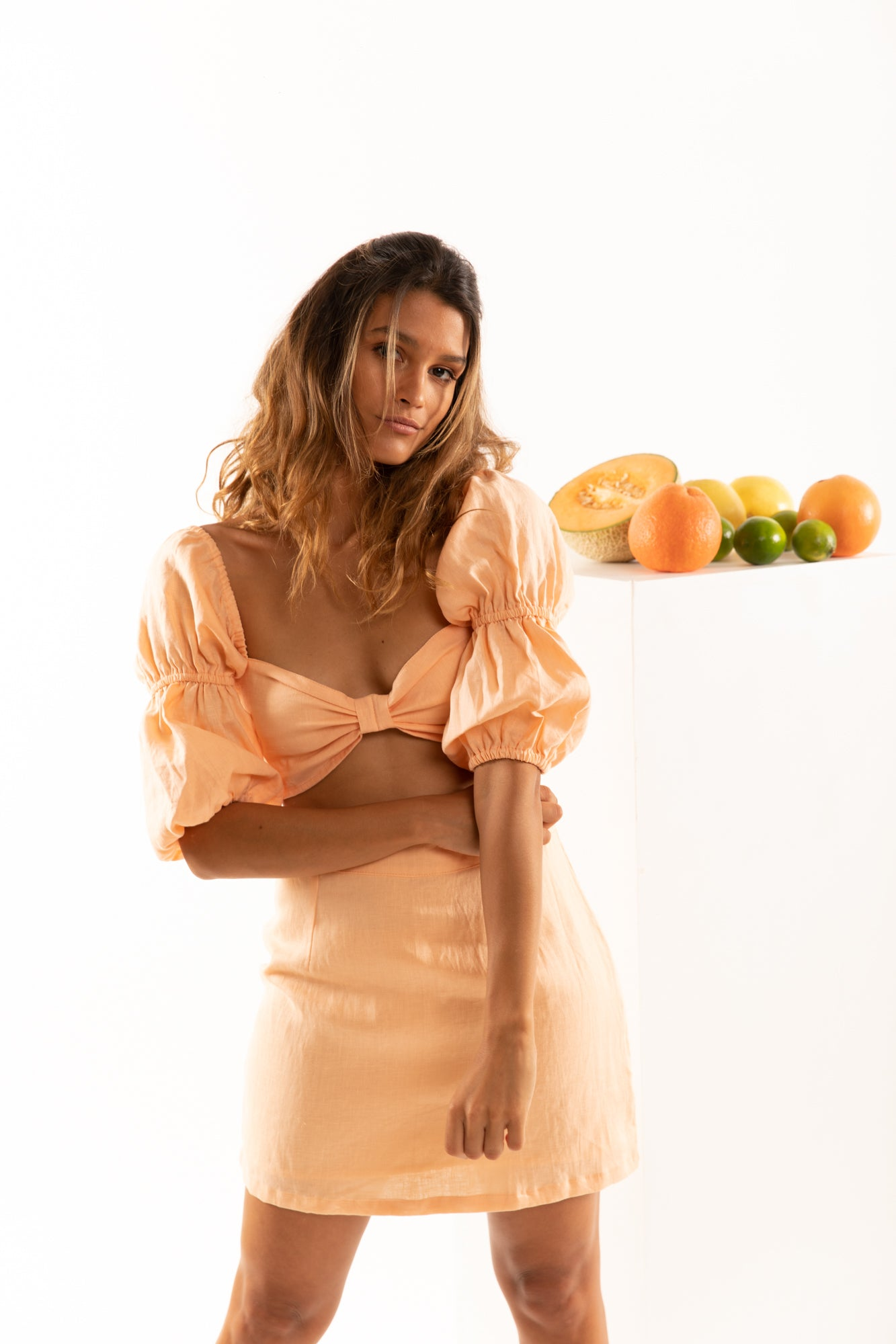 The Amalfi Skirt in Grapefruit