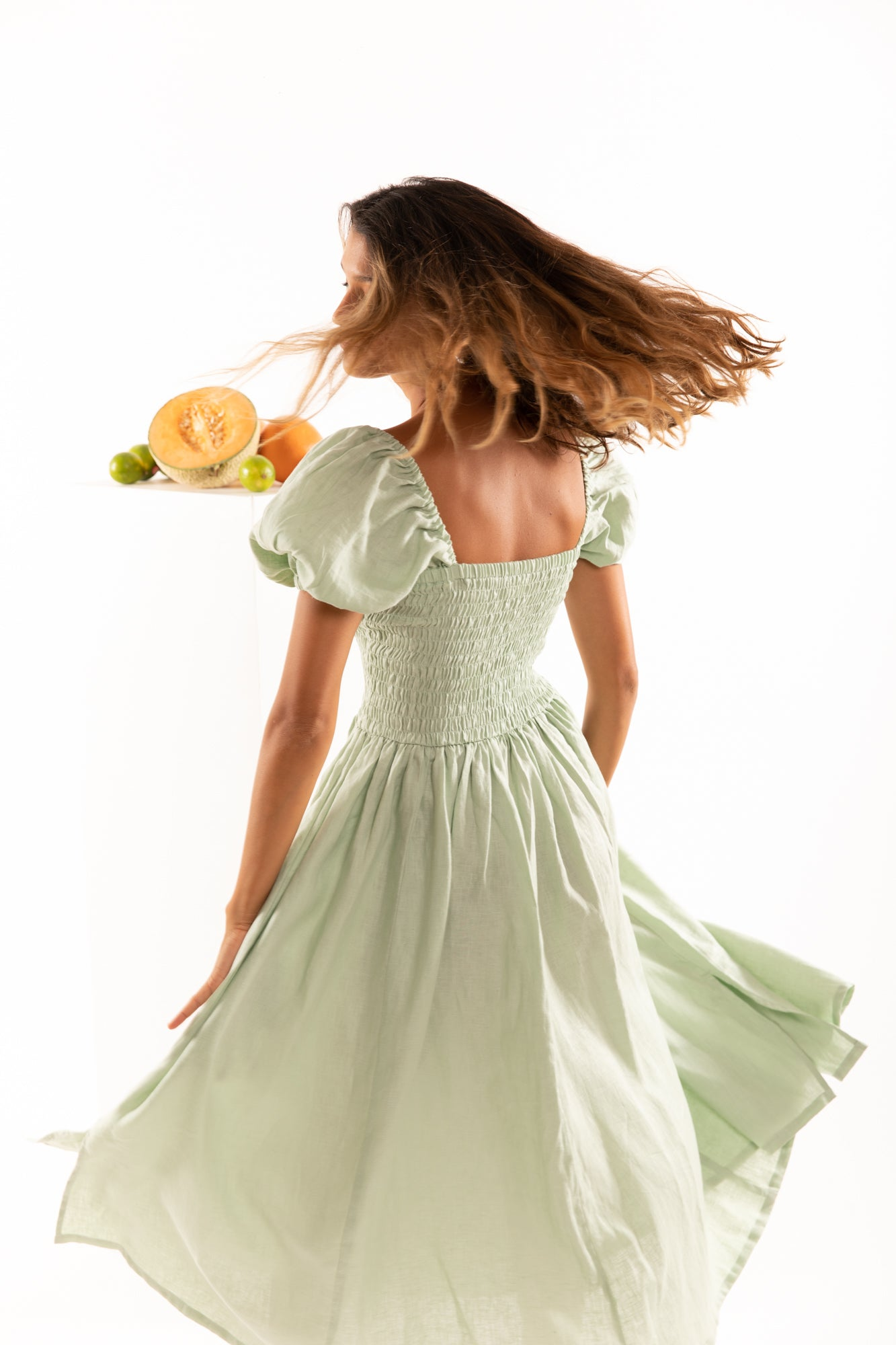 The Laguna Dress in Lime