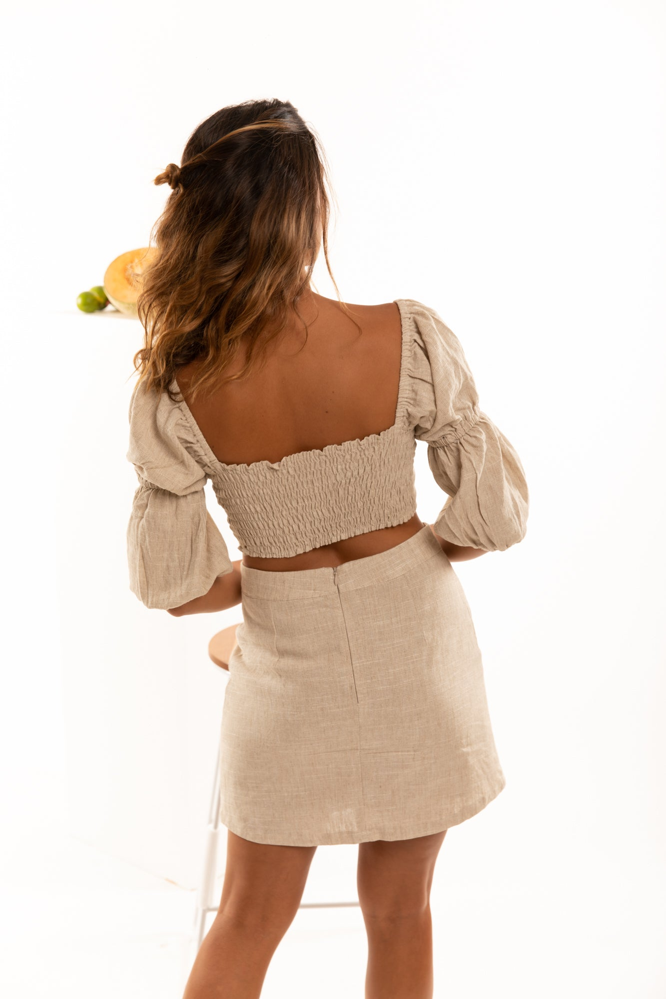 The Amalfi Skirt in Natural