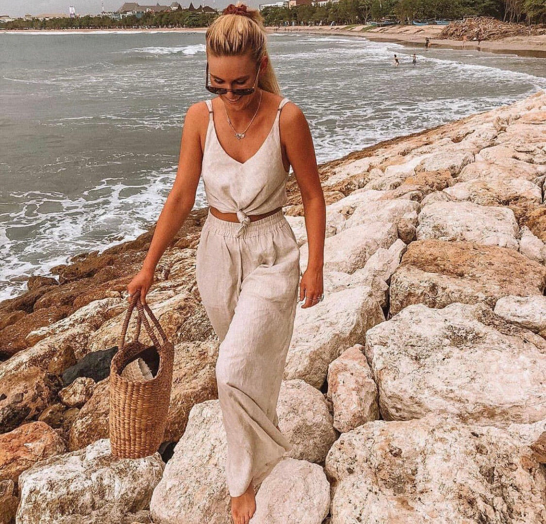 The Zephyr Linen Pants in Natural