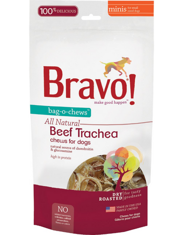 Bag-O-Chews Dry Roasted Beef Trachea for dogs - PetProductDelivery.com