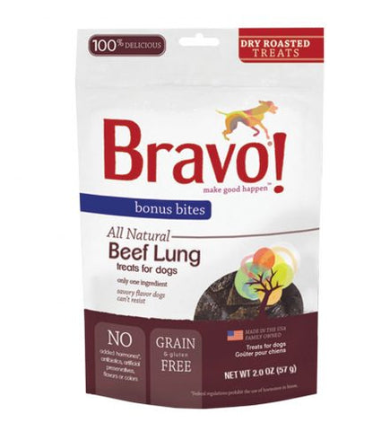Bonus Bites Dry Roasted Beef Lung treats for dogs - PetProductDelivery.com