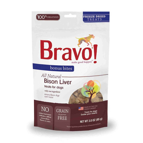 Bonus Bites Freeze Dried Bison Liver treats for dogs - PetProductDelivery.com