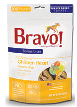Bonus Bites Freeze Dried Chicken Heart treats for dogs - PetProductDelivery.com