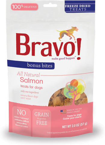 Bonus Bites Freeze Dried Salmon treats for dogs - PetProductDelivery.com