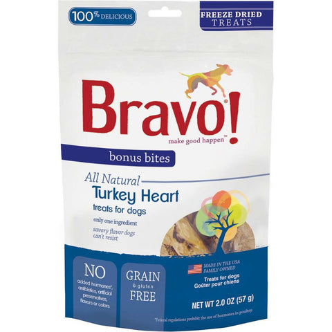 Bonus Bites Freeze Dried Turkey Heart treats for dogs - PetProductDelivery.com