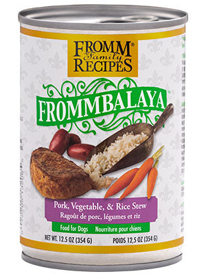 Frommbalaya Pork, Vegetable, & Rice Stew 12.5oz. cans for dogs / case of 12 - PetProductDelivery.com