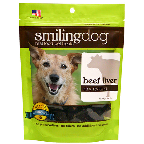 Smiling Dog Dry-Roasted Beef Liver - PetProductDelivery.com