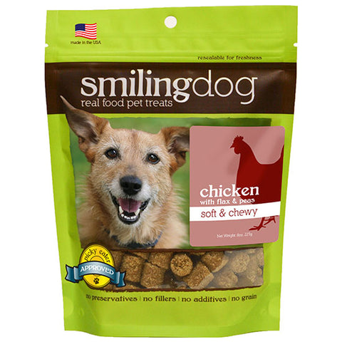 Smiling Dog Soft & Chewy Chicken with Flax Seeds & Peas