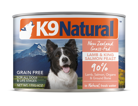 Lamb and King Salmon Feast dog cans