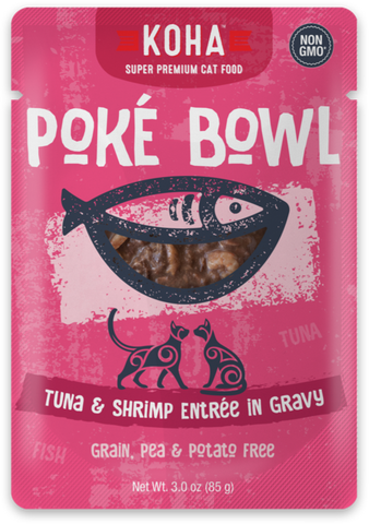 Poké Bowl Tuna & Shrimp Entrée in Gravy for Cats - PetProductDelivery.com