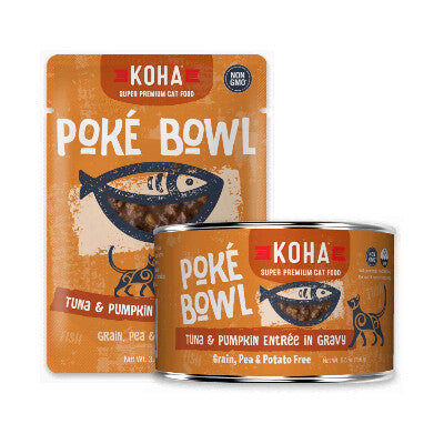 Poké Bowl Tuna & Pumpkin Entrée in Gravy for Cats - PetProductDelivery.com