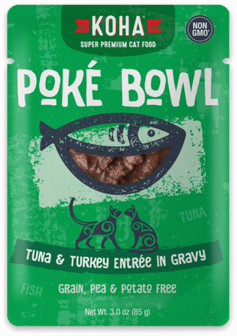 Poké Bowl Tuna & Turkey Entrée in Gravy for Cats - PetProductDelivery.com